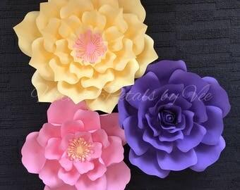 Set of 3 Paper Flowers** BIRTHDAY/ANNIVERSARY/WEDDING