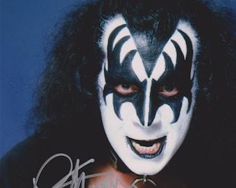 Gene Simmons Original Vintage Hand Signed 8X10 Autographed Up Closs Kiss Photo