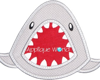 Big Mouth Shark Applique Embroidery-Instant Digital Download Shark-Machine Applique Embroidery Shark-Kids Shark Applique.Shark Applique.