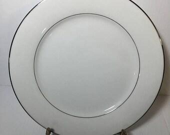 ON SALE Noritake DERRY 5931 Dinner Plate Dinnerware Platinum Trim Near Mint Condition