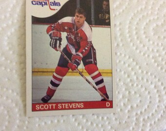 SCOTT STEVENS - Hockey 1985/86 - O-Pee-Chee - #62