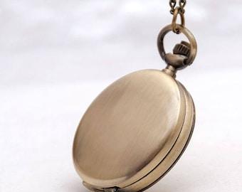 "1pc Antique Bronze Pocket Watch Size: 40mm(1.57"")"