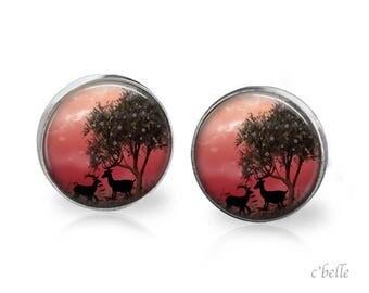 Stud Earrings mystical landscape 10