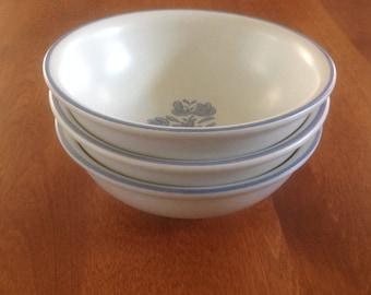 "Three (3) Pfaltzgraff USA YORKTOWNE 6"" Cereal / Soup / Salad Bowls"