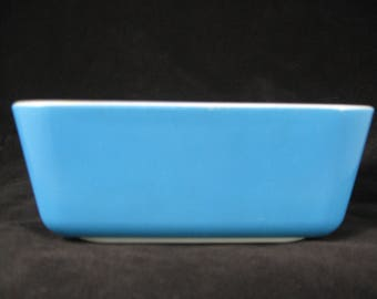 Vintage Pyrex Early Primary Color Blue  Refrigerator Storage Dish Retro Kitchen