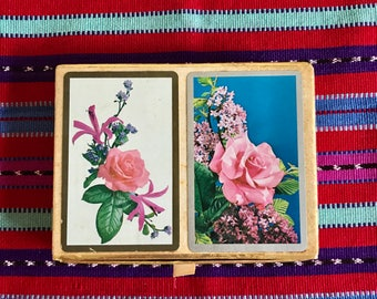 Rose Print Two Deck Cards