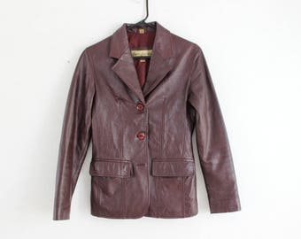 SALE Super soft brown leather jacket XS