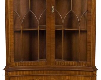 vintage tall corner cabinet w gothic arches