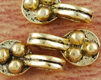 5 charm pendant bail in antique gold metal 12x5mm