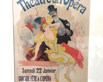 Jules Cheret Theatre de l'Opera Grande Fete Masked Ball Maitres de l'Affiche Plate 105 Lithograph Free Shipping
