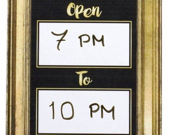 Photo Booth Open Times Sign Dry Wipe Table Top Sign Photo Booth Accessory 013-183