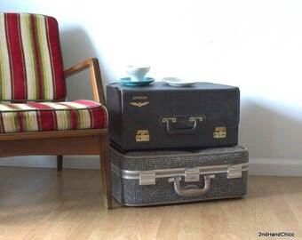 Vintage Jeppesen Pilot Case Flight Bag, Vintage Cowhide Travel Salesman Bag,  Large Suitcase for File Storage