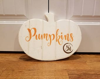 Rustic Pumpkin Sign, Pumpkin, Fall Decor, Pumpkin Sign, Fall Sign, Wooden Fall Sign, Wooden Pumpkin