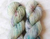 Holy Terror - sparkly Penny Dreadful inspired speckled sock yarn on SOL Gold sparkle sock - ready to ship!
