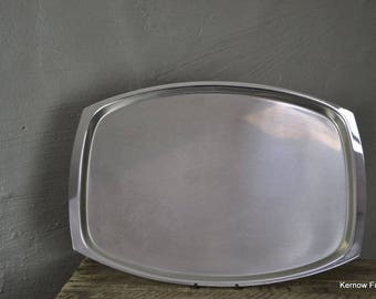 Retro Stainless Steel Serving Drinks Tray