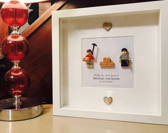 House Warming Gift - Lego Frame - personalised!