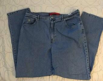 1980's Gloria Vanderbilt high waist mom jeans. Size 18 Long