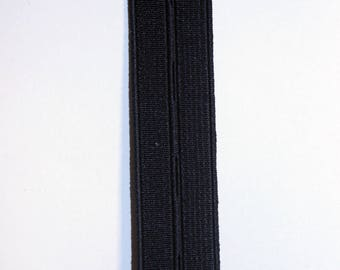Elastic buttonhole black 20 mm to 50 cm long