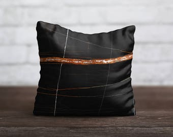 Style Marble PillowCase Black Throw Pillow Cover Decorative PillowCase Toss Pillow Silk Pillow Case Satin Pillow Cover Mom Gift Home Decor