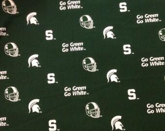 "Michigan State ""Spartans"" Cotton Fabric - 1 Yard"