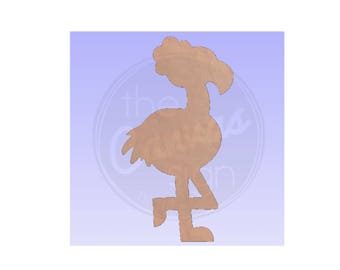 FLAMINGO - Blank - Unfinished Wood Cutout - DIY - Wreath Accent, Door Hanger, Ready to Paint & Personalize
