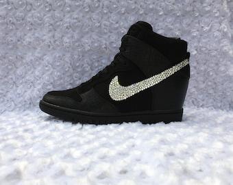 Womens Nike Sky Hi Bling Sneakers Nike Sky Hi Crystal Sneakers