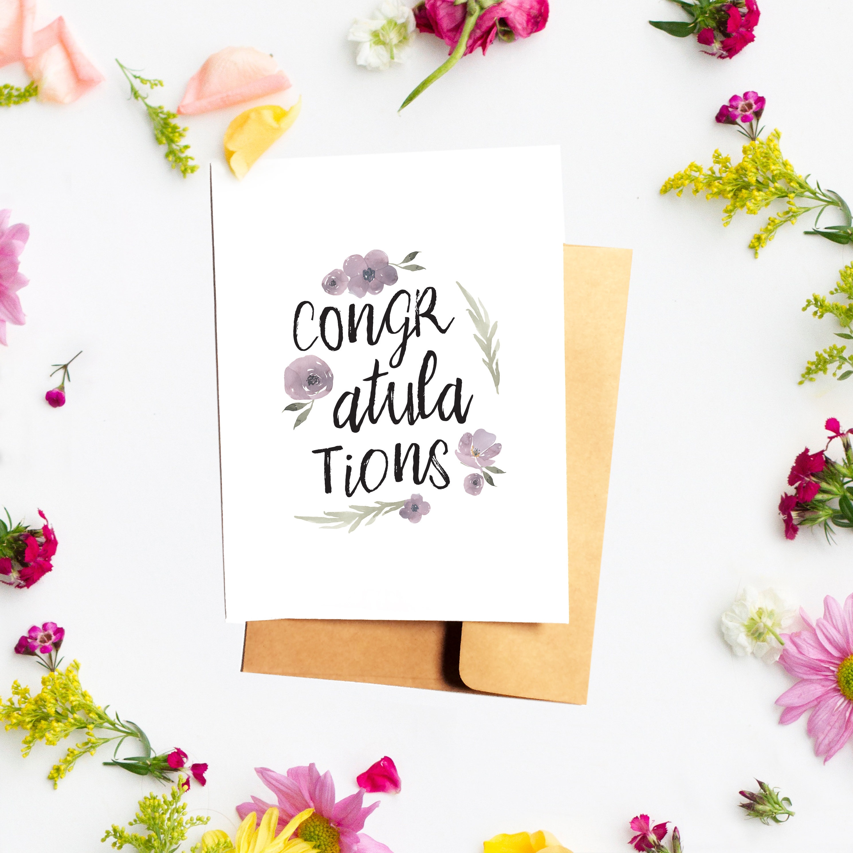 Congratulations Card Congrats Greeting For Her Baby Shower Wedding