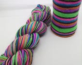 Hit Me With Your Best Shot Self Striping - Hand Dyed Fingering Weight Yarn - Bootheel (400 yards)
