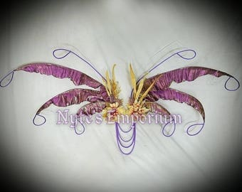 RESERVED****CECE Harpy Wings™ are One of a Kind Fairy Wings,lavender wings,flower fairy wings,festival wear,fairy costume,ren fest