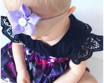 Five petal flower hair clip, girls accessories, flower hair clip, non slip hair clip, hair ties flower headband, nylon headband, newborn