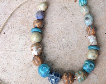 Ceramic beads, Necklace, Jewelry , Made to order