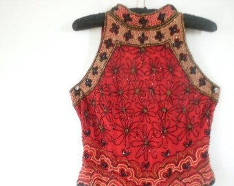 Beautiful Papell Boutique Beaded Top
