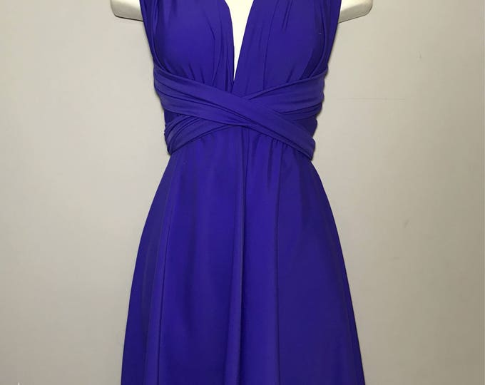 SAMPLE SALE : Short Convertible Dress / ready to ship / size small