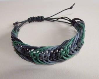 Macrame Bracelet, Wax cord Bracelet, Unisex bracelet, Adjustable Macrame Bracelet, UK seller