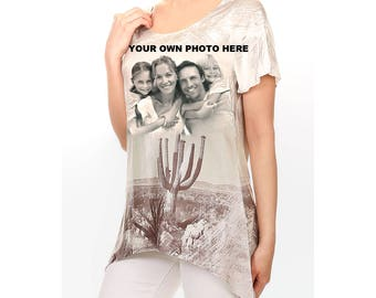 Customized All Over Printed Womens Sublimation Top