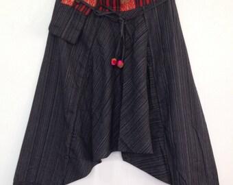 Pants womens Hmong tribal Trousers Funny Panties  yoga boho hippie harem pants unisex adults