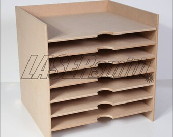 "12 x 12"" Inch Paper Storage Unit for Craft etc fits Ikea Kalex cube storage"