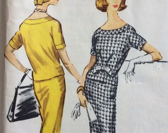 McCall's 4487 misses overblouse and skirt size 12 bust 32 vintage 1950's sewing pattern  Uncut  Factory Folds
