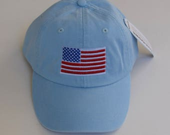 American Flag Baseball Cap || Personalized Custom Gift by Three Spoiled Dogs Made in USA