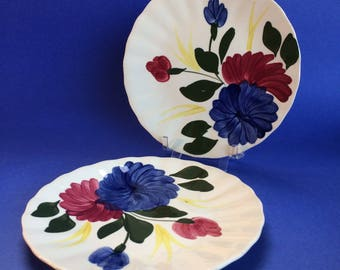 "2 x 6 1/4"" Bread Salad Plates Blue Ridge Antique American Southern Pottery"