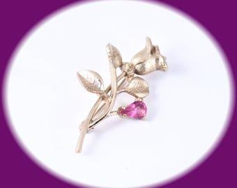 Vintage Avon Rose Pin Flower Brooch Gold Tone Flower Brooch Vintage Jewelry Vintage Brooch Costume Jewelry Avon Jewelry Lapel Pin