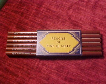 One Dozen New York Central System Railroad Medium Lead Pencils