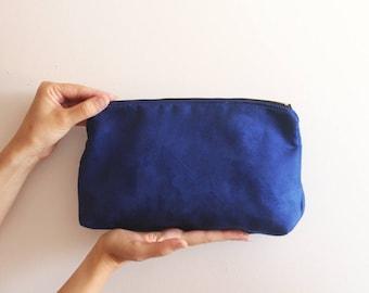 Blue Evening Clutch /Blue handbag - Women's bag /Blue clutch / Evening clutch purse - Vegan bag - Faux suede clutch