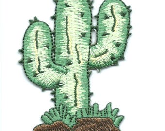 Cactus Iron On Patch Embroidered Applique
