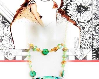 Art deco necklace 1930 - ART DECO Double