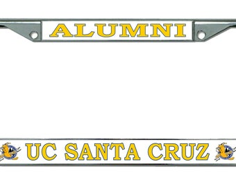 UC Santa Cruz Alumni Chrome License Plate Frame
