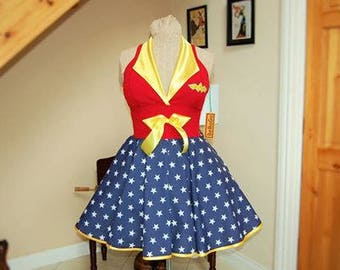 Wonder Woman dress. MADE TO MEASURE!!