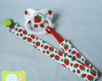 Strawberry Adult Pacifier Clip (ABDL)