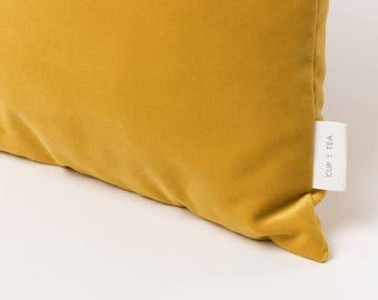 Velvet Touch Cushion . Royal Yellow   Velvet Cushion   Throw Pillow   Velvet Pillow   Pillow Case   Decorative Pillow   Accent Pillow
