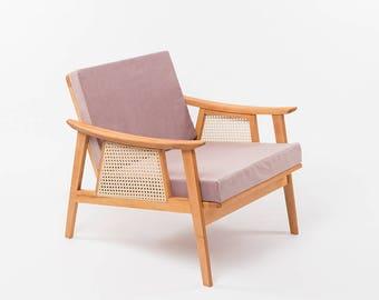 Reloved Armchair . Mademoiselle Rose  | Upholstered Chair | Vintage Chair | Lounge Chair | Retro Armchair | Restored | Rose | Modern Vintage